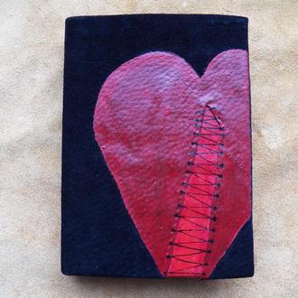 """Блокнот """"раненое сердце"""""""