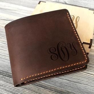 Кожаный кошелек «Аббревиатура»