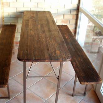 Набор раскладной мебели - стол со двумя скамейками