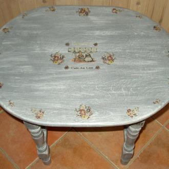 Столик для кофе из дерева в стиле Прованс, шебби