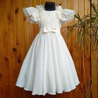 Платье пышное бальное нарядное116-122р