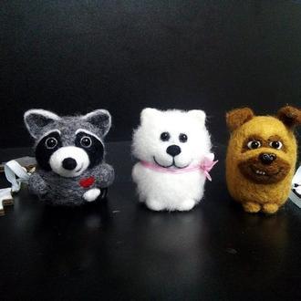 """Новорічні іграшки """"Веселі звірята"""" №1"""
