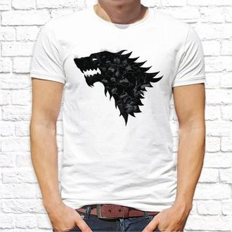 Мужская футболка Push IT с принтом Волк ФП001376