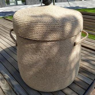 Корзина из джута для хранения белья