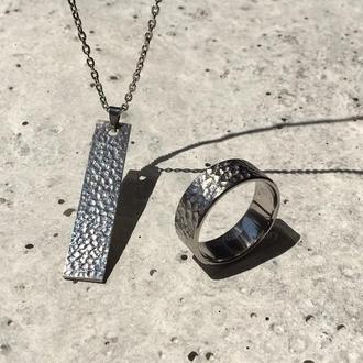 Набор украшений MOON, комплект кулон и кольцо