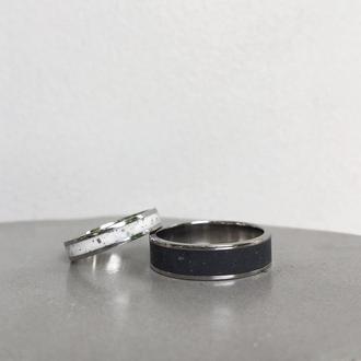 Кольцо из титана и полимербетона Thin ring