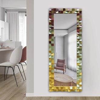 Зеркало из дерева в современном стиле