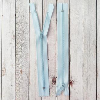 Молния брючная, юбочная светло-голубая. 20 см