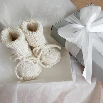Детские пинетки в подарочной коробке 0-3 мес