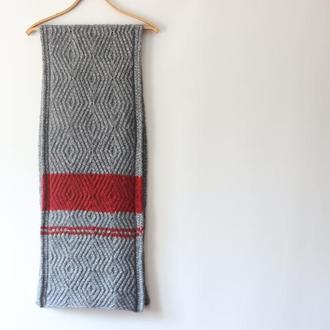 Вязаный шарф GreyRed