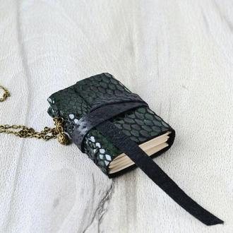 Мини-блокнот, софтбук кожаный, сувенирный блокнот