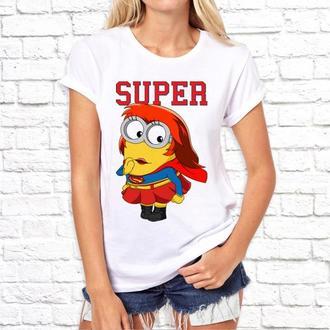 Женская футболка Push IT с принтом по мотивам мультфильма _Миньоны_ ФП002759