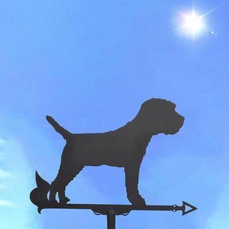 "Флюгер на крышу дома ""Собака, Пёс, Щенок"" №2 с металла 2 мм"