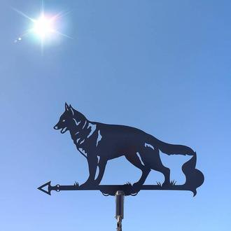 "Флюгер на крышу дома ""Собака, Пёс"" с металла 2 мм"