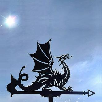 "Флюгер на крышу дома ""Дракон"" с металла 2 мм"
