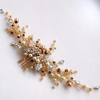 Весільна прикраса для волосся, гілочка в зачіску, гребені для волосся, прикраси для зачісок, заколка