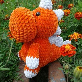 Іграшка дракончик помаранчевий