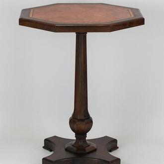 Деревянный высокий и узкий журнальный/кофейный столик, подставка.