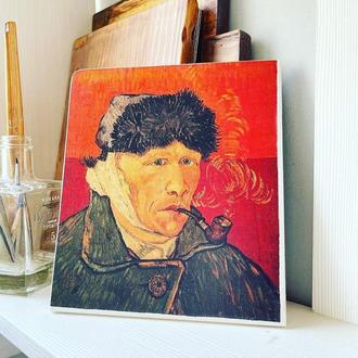 Картина на дереве Ван Гог «Автопортрет»
