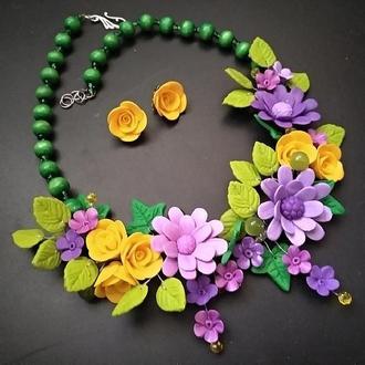Кольє з квітами Літо
