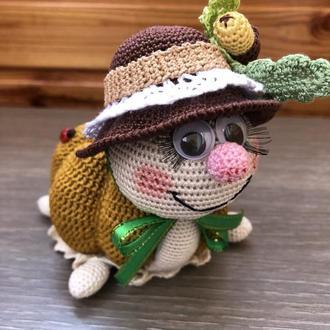 """Интерьерная игрушка """"Осенняя черепашка"""""""