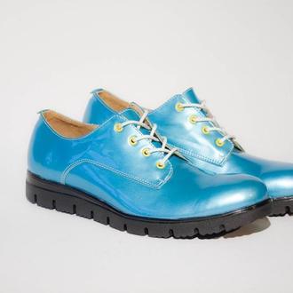 """Обувь ручной работы """"Blue shoes"""""""