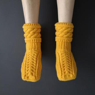 Носки тапочки для дома вязаные ручная работа