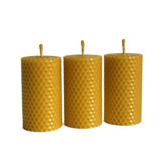 Набір подарункових еко свічок з вощини 8.5×4.5 см, 3 шт