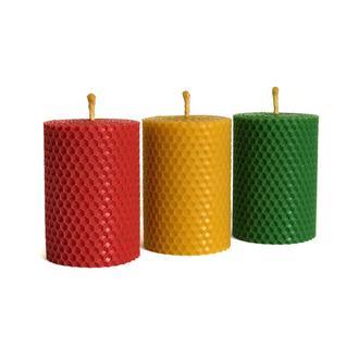 """Набор свечей """"Светофор"""" (8.5×6 см) для дома, декора интерьеров, на подарок в красивой упаковке"""