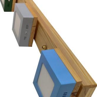 Светильник led потолочный деревянный  светодиодный дизайнерский