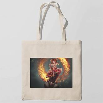 Эко-сумка, шоппер с принтом повседневная The Fire Witch by Sendolarts-Огненная Ведьма