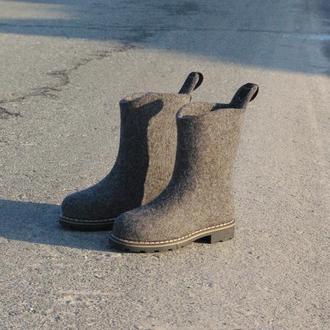 Мужские валяные полусапоги ботинки Просто король