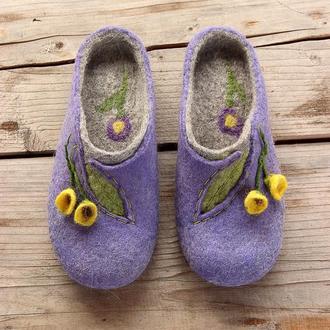 Валяные тапочки, обувь Валяные тапочки тапки