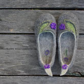 Валяные тапочки, обувь Валяные тапочки тапки на заказ
