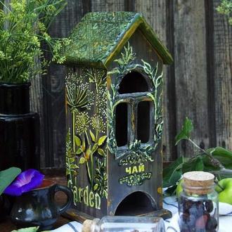 чайный домик в ботаническом стиле
