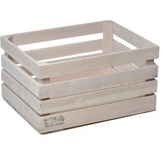 Білий дерев'яний ящик NATURWOOD  40 х 30 х 22 см