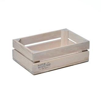 Білий дерев'яний ящик 30*20*11 см