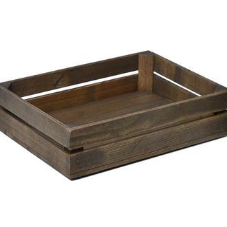 Темний дерев'яний ящик Naturwood (40х30х11 см)