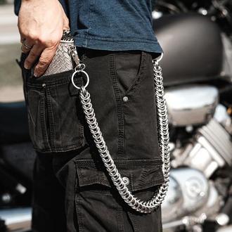 Металлическая цепь на кошелек лисий хвост
