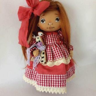 Ава Текстильная Интерьерная кукла Авторская кукла декоративная