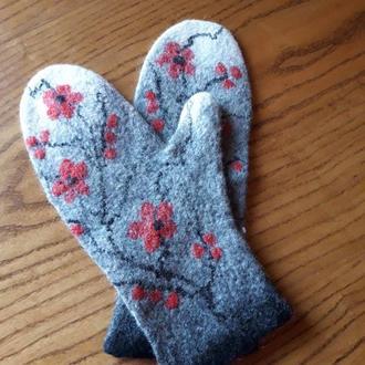 Шерстяні рукавички