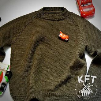 Вязаный свитер для мальчика и для девочки