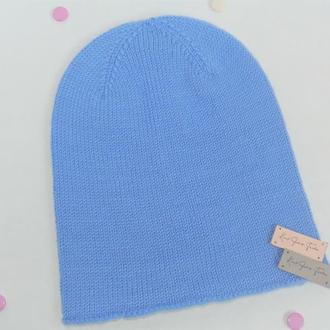 Вязаная шапка бини из мериноса