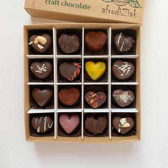 Набор 16 конфет-сердец ассорти TM Afrodiziak