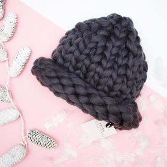 Шапка/ шапка из толстой пряжи/ Шапка хельсинки