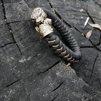 Мужской браслет из паракорда Тигр