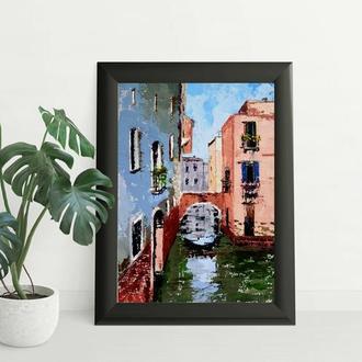 Венеция канал Масляная живопись Итальянский пейзаж