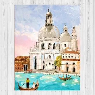 Канал в Венеции Италия Живопись маслом Картина от автора