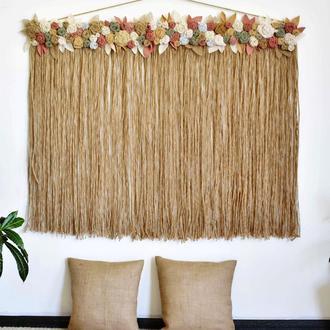 Набор для декора дома в стиле бохо Настенное панно и 2 напольные подушечки