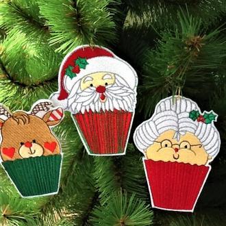 Рождественские капкейки